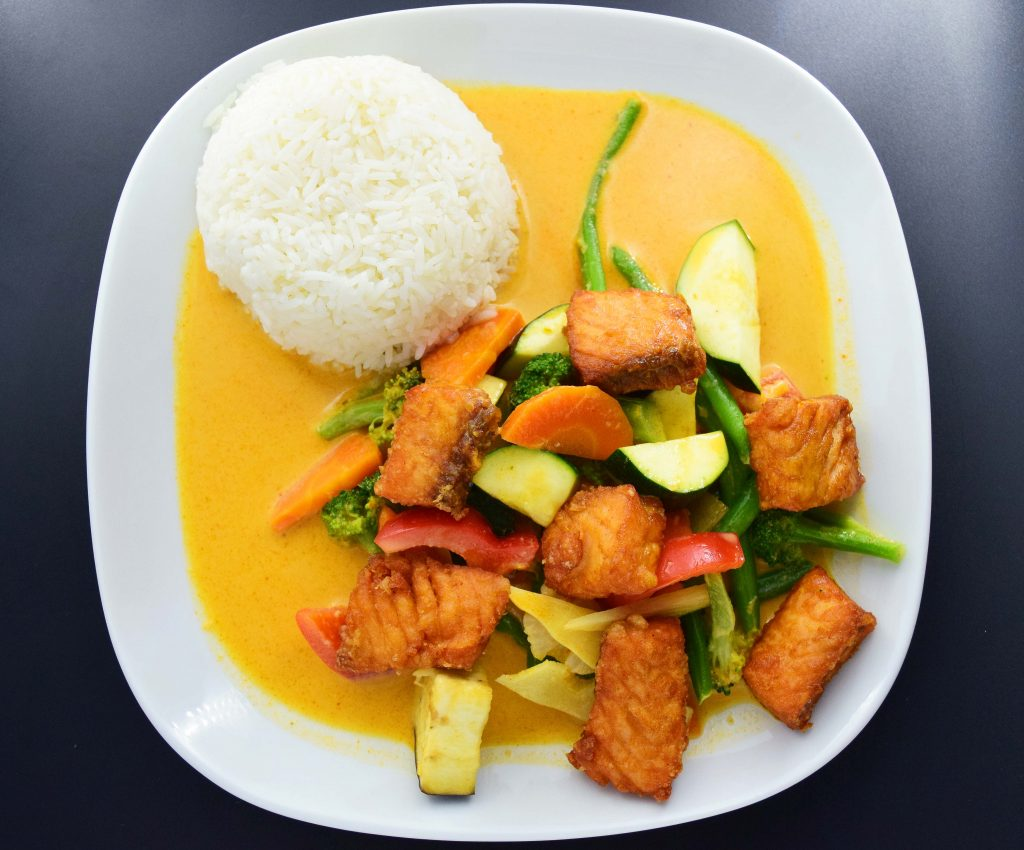 K5 Reis mit Lachs