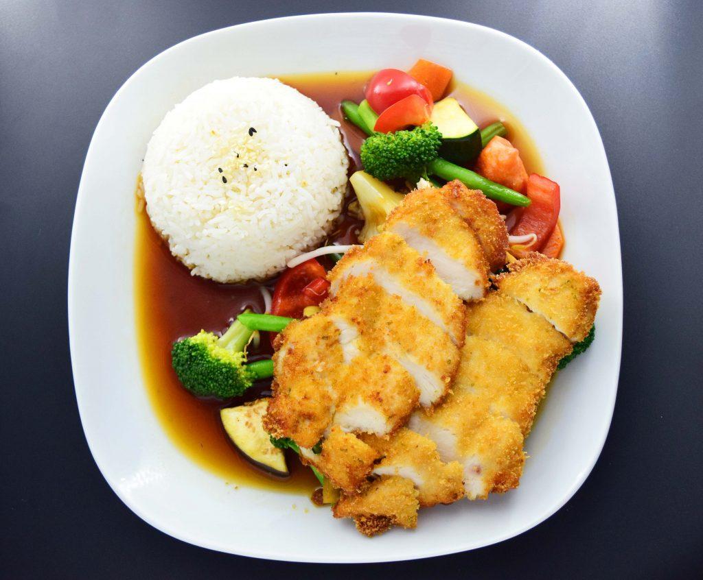 R3 Reis-Teller mit Hühnerbrust